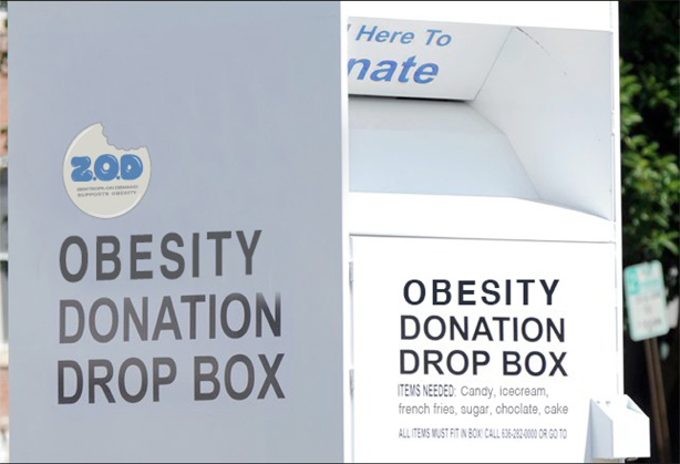 obesity donation box